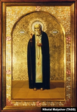 A modern icon of St. Serafim of Sarov