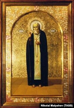 A modern icon of St. Serafim of Sarov