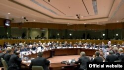 The EU's General Affairs and Foreign Affairs Council session in Brussels on January 25.