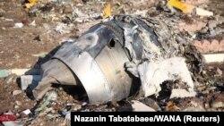 Місце падіння українського пасажирського літака в Ірані, 8 січня 2020 року