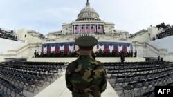 Vojni orkestar SAD vježba pred inauguraciju predsjednika SAD Donalda Trampa u Vašingtonu