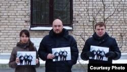 Фотоакція на підтримку гродненських правозахисників – членів групи «Весна»