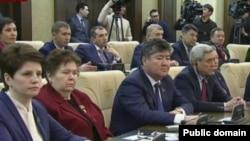 Мәжіліс сайлауынан кейін өткен парламенттің бірлескен отырысы. Астана, 25 наурыз 2016 жыл. 24kz телеарнасы эфирінен алынған скриншот.