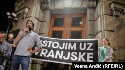 Protest podrške Obradoviću i Vranjskim u Beogradu