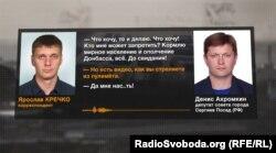 Телефонна розмова з російським депутатом Денисом Ахромкіним