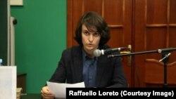 Раффаэлло Лорето в Библиотеке имени Данте в Москве