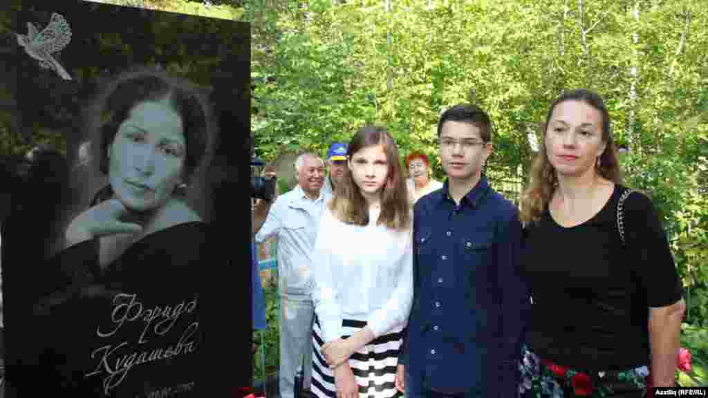 Славяна Вахитова кызы һәм улы белән