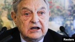 """""""Ашық қоғам"""" қорының негізін қалаған америкалық миллиардер Джордж Сорос."""
