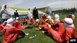 Футболдан Иранның әйелдер ұлттық құрамасы. Тегеран, 25 маусым 2009 жыл.