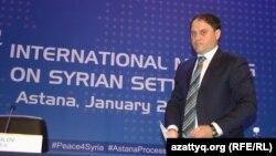 Роман Василенко, Қазақстан сыртқы істер министрінің орынбасары. Астана, 23 қаңтар 2017 жыл.