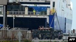 تخلیه پاتریوتهای آلمانی در بندر اسکندرون ترکیه