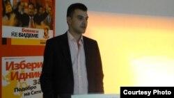 Дино Блажевски, претседател на Унијата на млади сили на ВМРО-Народна партија