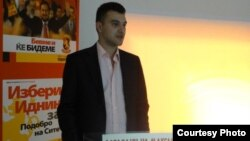 Дино Блажевски, претседател на УМС на ВМРО-НП.