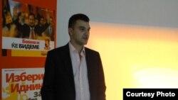 Дино Блажевски, претседател на Унијата на млади сили на ВМРО-Народна партија.
