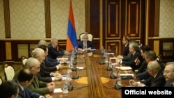 Armenia -- President Serzh Sarkisian chairs a National Security Council meeting after termination BHK leader Gagik Tsarukian's membership in the body, 13 Feb, 2015