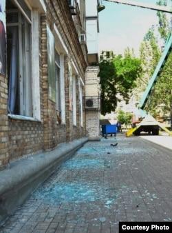 Последствия взрыва около музея