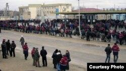 Забастовка нефтяников в Жанаозене. Март 2010 года.