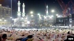 Muslim pilgrims pray at the Masjid al-Haram Mosque, Islam's holiest site, two days before the hajj pilgrimage in Mecca, Saudi Arabia, on September 20.