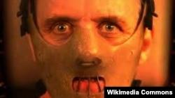 """Ганнибал Лектер, персонаж из фильма ужасов """"Молчание ягнят""""."""