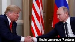 Трамп и Путин в Хельсинки, 16 июля 2018 года
