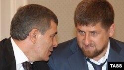 Kabardin-Balkar prezidenti Arsen Kanokov və Çeçenistan prezidenti Ramzan Kadyrov -2009