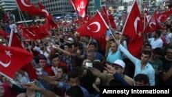 Përkrahës të pushtetit të presidentit turk, Rexhep Tajip Erdogan