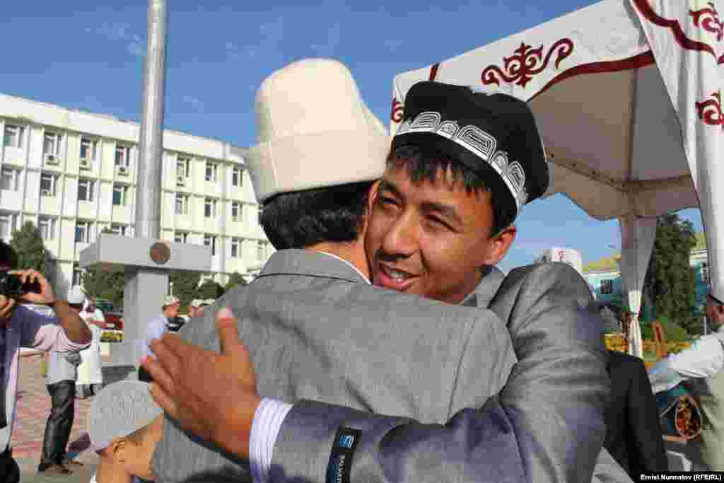 In a central square in the southern Kyrgyz city of Osh