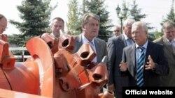 Віктор Ющенко під час робочого візиту до Донецького регіону, 29 серпня 2008 р.