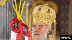 "The new patriarch of the Serbian Orthodox Church, Bishop Irinej of Niš, leads a service in Belgrade. - Irinej <a href=""http://www.rferl.org/content/Interview_Radicals_Will_Continue_To_Influence_Serbian_Orthodox_Church/1941493.html""><b>was enthroned</a></b> on January 23, replacing Patriarch Pavle, who died in November. <br /><br />Photo by Vesna Andic for RFE/RL"