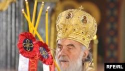 The new patriarch of the Serbian Orthodox Church, Bishop Irinej Gavrilovic of Nis