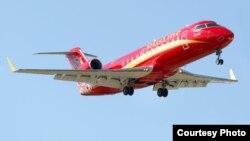 """Самолет компании """"Руслайн"""" CRJ-100/200, вместимостью 50 пассажиров. Такой должен быть запущен между Москвой и Йошкар-Олой. Фото: """"Руслайн"""""""
