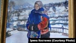 Фрагмент картини художника Владислава Яроцького «Зимове сонце в Карпатах», 1929 рік