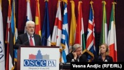 ЕҚЫҰ парламенттік ассамблеясының 20-сессиясы. Белград, Сербия, 6-10 шілде 2011 жыл. (Көрнекі сурет).