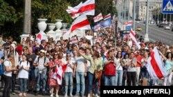 «Марш міру і незалежнасьці» ў Менcку, 30 жніўня