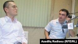Alpay Azər (solda) və Cavid Zeynallı