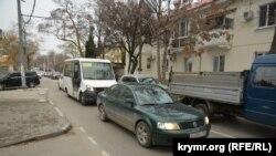 Затор на вулиці Новоросійській у Севастополі