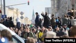 Участники антикоррупционной акции протеста 26 марта в Москве
