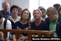 Марина Костенок и Николай Рыбаков в Мосгорсуде