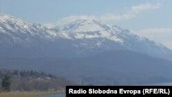 Поглед на Галичица од Охрид.