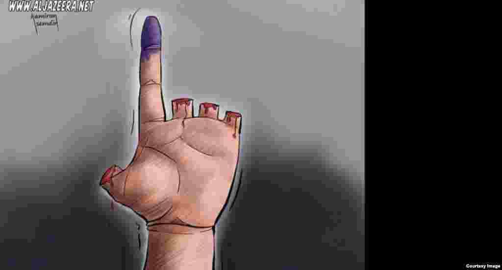 «انگشت زدن با خون»؛ اثر کامیران شمدین