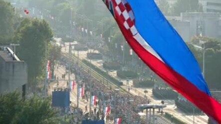 Detalj sa vojne parade u Zagrebu