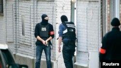 Pamje gjatë një aksioni të mëparshëm të policisë speciale në Bruksel