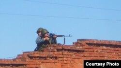 Удмуртия. Снайперы на крыше колонии