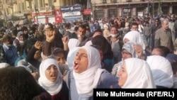 Протестующие на площади Тахрир. Каир, 23 ноября 2011 года.
