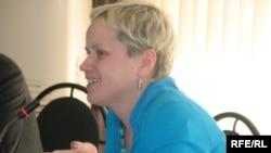 Human Rights Watch ұйымының өкілі Мэри Лисицина. Алматы, 4маусым, 2009 жыл.
