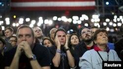 Хиллари Клинтонның Нью-Йорктегі жақтастары. АҚШ, 8 қараша 2016 жыл.