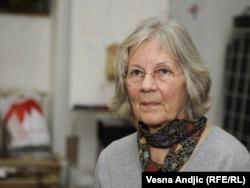 Beata Niman na projekciji filma u Beogradu, oktobar 2011