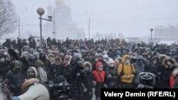 Акция в поддержку Навального 23 января (архивное фото)