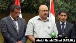 """جانب من مؤتمر صحفي بأربيل لنقابتي """"ذوي المهن الصحية العراقية"""" و""""الكوادر الصحية في كردستان"""""""