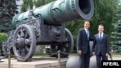 Барак Обама и Дмитрий Медведев в Кремле
